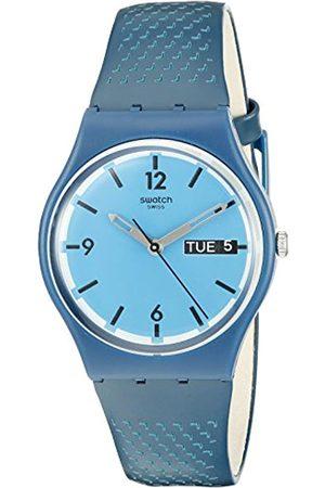 Swatch Unisex Analog Quarz Uhr mit Silikon Armband GN719