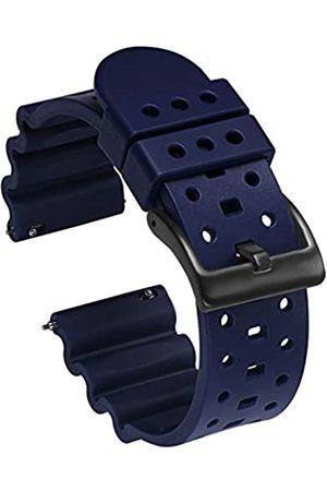 Carty Gummi-Uhrenarmband, 20 mm, Premium-Qualität, wasserdicht, Schnellentriegelung, Silikon-Uhrenarmbänder für Herren, marineblau