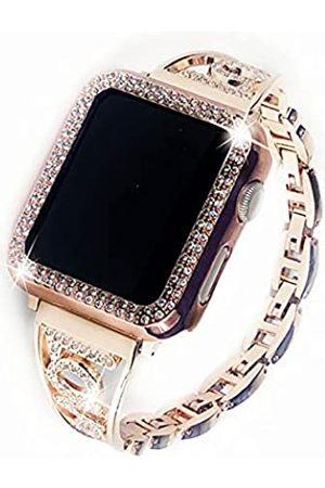 Xybuluerq Kompatibel mit Apple Watch Armband 38 mm 40 mm 42 mm 44 mm + Hülle