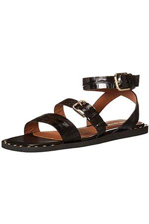 Emporio Armani Damen Ankle Strap Flat Studded Flache Sandale