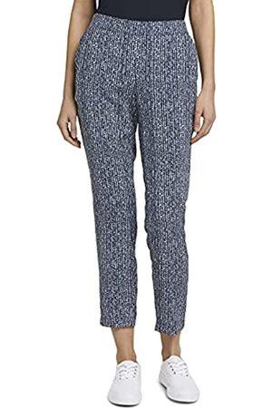 TOM TAILOR Damen 1026169 Loose-Fit Hose, 27424-Blue Minimal Design