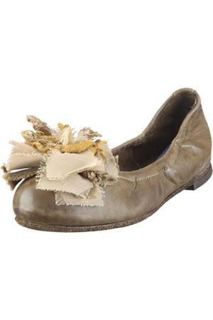 Pantofola d'Oro Pantofola D´ORO Ballerina Elastic Nappa + Fiore BL29F-D, Damen, Ballerinas, (Militare 166)