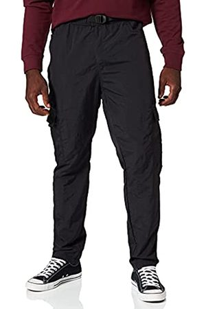 Urban classics Herren Adjustable Nylon Cargo Pants Hose, Black