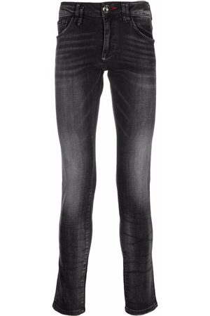 Philipp Plein Stonewashed slim-fit jeans