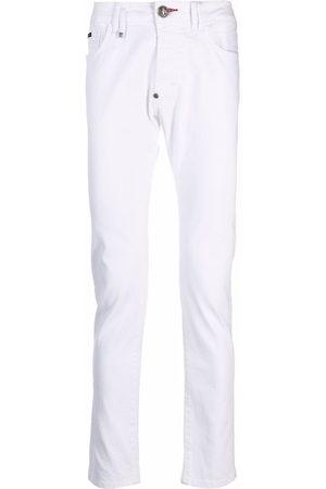 Philipp Plein Herren Straight - Logo-plaque skinny jeans