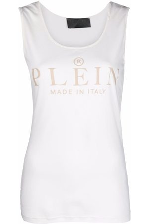 Philipp Plein Damen Tanktops - Logo-print tank top - Nude