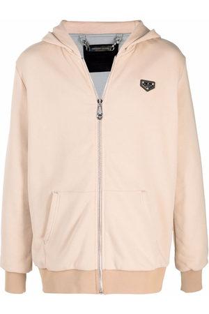 Philipp Plein Herren Sweatshirts - Logo-plaque zip-up hoodie - Nude
