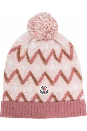 Moncler Enfant Mädchen Hüte - Zigzag-knit beanie