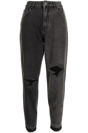 PORTSPURE Damen Tapered - Tapered-Jeans mit hohem Bund