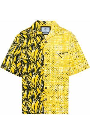Prada Herren Hemden - Kastiges Double Match Hemd