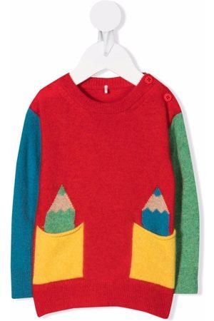 Stella McCartney Sweatshirts - Colour-block wool-blend jumper