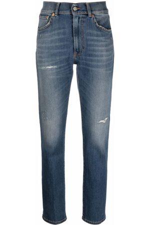Dondup Damen Straight - High-rise straight leg jeans