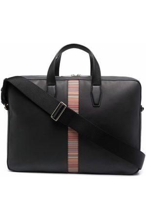 Paul Smith Herren Laptop- & Aktentaschen - Logo-tape leather tote bag