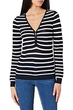 Morgan Damen Pull tricotage Filet Zip MESH Pullover