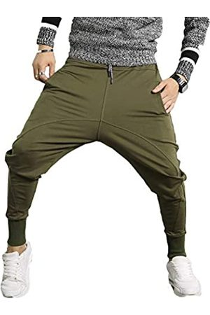 PRIJOUHE Herren Jogger Sweatpants Low Crotch Sweats Slim Fit Hose Harem Hip Hop Pants - - Klein