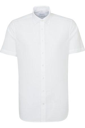 Seidensticker Businesshemd »Slim«, Slim Kurzarm Button-Down-Kragen Uni