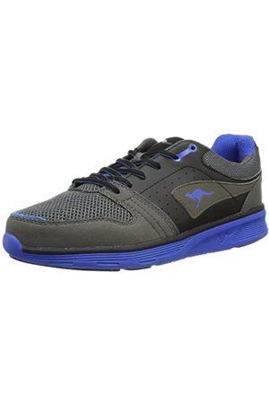 KangaROOS Damen Schuhe - Squeeze 7222A Unisex-Erwachsene Sneaker, (dk Grey/Black/royal Blue 253)