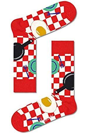 Happy Socks Damen Early Bird Socken, Red