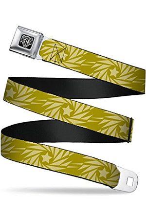 Buckle-Down Sicherheitsgurt – Windrädchen Stern olivgrün/beige – 2,5 cm breit – 20-36 Zoll lang