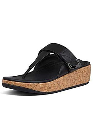 Fitflop Damen REMI Toe Post-Velcro Adjustable Sandal, (All Black)