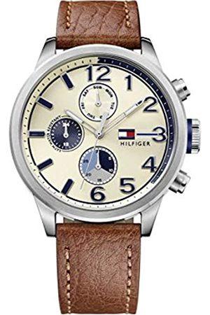 Tommy Hilfiger Herren Analog Quarz Uhr mit Leder Armband 1791239