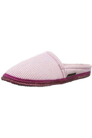 HAFLINGER Damen Hausschuhe - Damen Pantoffel Streifen Hausschuhe, (Fuchsia)