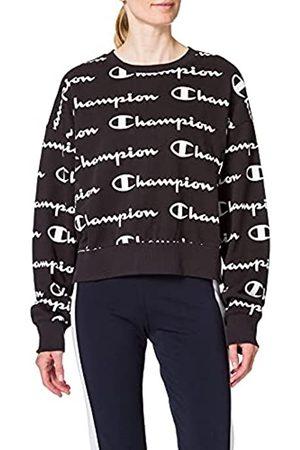 Champion Damen Seasonal AC Logo Allover Crewneck Sweatshirt, Black
