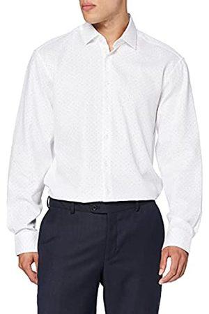 Seidensticker Herren Comfort Fit – Softes, Bedrucktes Hemd Mit Struktur, Kent-Kragen Und Brusttasche – Langarm – 100% Baumwolle Businesshemd