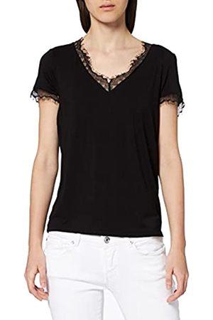 Morgan Women's Tshirt Manches Courtes col V Dentelle DMINOL T-Shirt