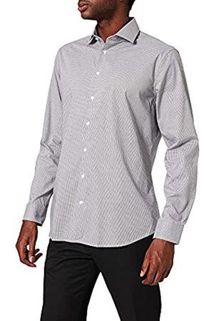Seidensticker Herren Tailored Fit – Bügelfreies, Kariertes, Schmales Hemd Mit Kent-Kragen – Langarm – 100% Baumwolle Businesshemd