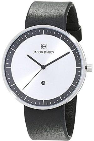 Jacob Jensen Herren Analog Quarz Uhr mit Leder Armband 32270