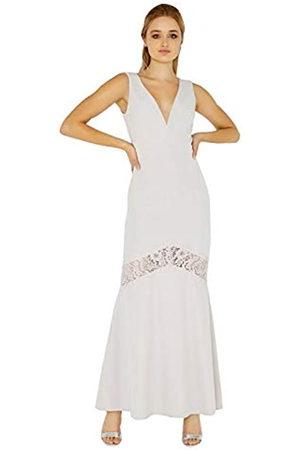Little Mistress Damen Abbie Plunge Maxi Dress with Lace Insert Kleid, (Lilac)