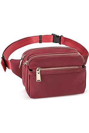 ZORFIN Fanny Pack for Women and Men Waist Pack Bag Cute Fashion Large Capacity Hip Bum Bag for Travel Festival Cycling Running Hiking (Wine Red)