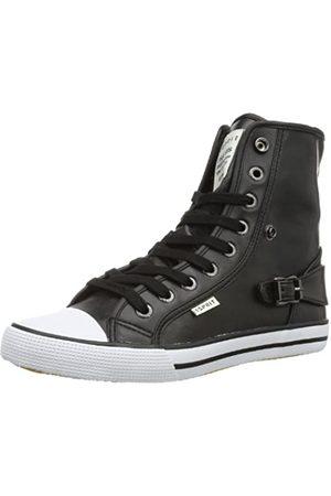 ESPRIT Benny Lu Bootie 024EKKW004, Unisex-Kinder Sneaker, (black 001)