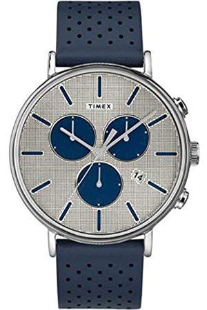 Timex Herren Chronograph Quarz Uhr mit Leder Armband TW2R97700