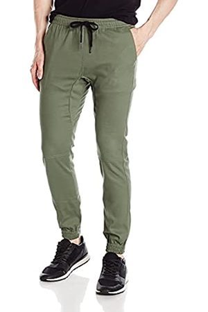 BROOKLYN ATHLETICS Herren Twill Jogger Pants Soft Stretch Slim Fit Trousers Trainingshose