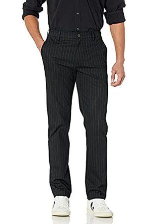 Goodthreads Amazon-Marke: Herrenhose, schmale Passform, knitterfrei, Chino-Stil, Black Pinstripe