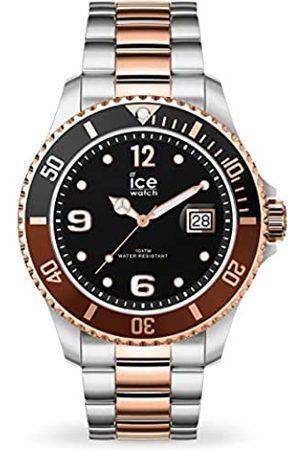 Ice-Watch ICE steel Chic silver rose-gold - Silbergraue Herren/Unisexuhr mit Metallarmband - 016546 (Medium)