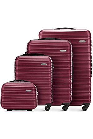 Wittchen Koffer-Set 4tlg. Reisekoffer | Burgund | 77x29x52 | Kapazität: 195L | Gewicht: 11