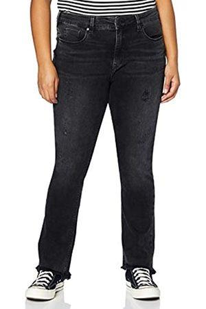 Herrlicher Damen Super G Boot Cropped Denim Black Cashmere Touch Jeans