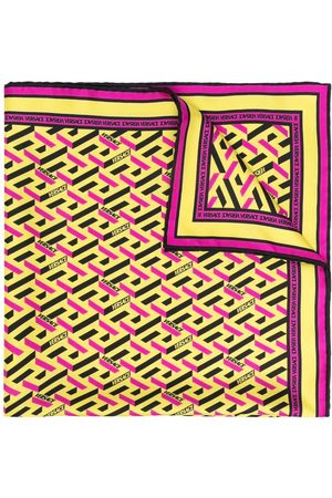 VERSACE Seidenschal mit Logo-Print