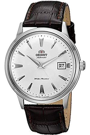 """Orient Männer-Armbanduhr """"2. Gen. Bambino Ver. 1"""", japanisch, automatisch, aus Edelstahl und Leder"""