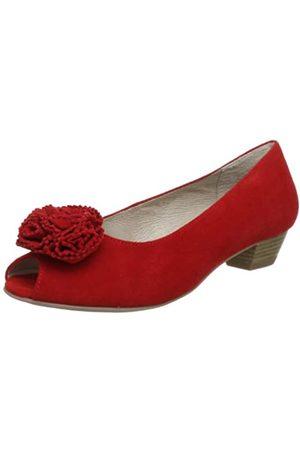 Caprice Damen Flamenco Peep-Toe, (RED Suede)