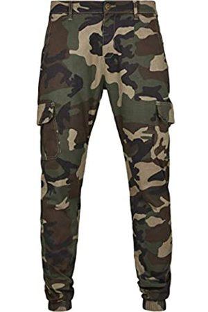 Urban classics Herren Camo Cargo Jogging Pants 2.0 Hose, Mehrfarbig (Wood 00396)