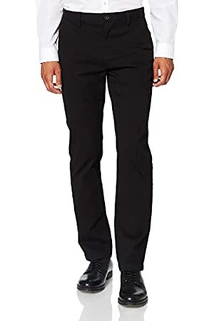 MERAKI Amazon-Marke: Herren Chinohose Slim Fit (Black), 36W / 34L