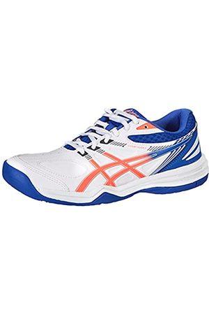 Asics Damen Court Slide 2 Tennis Shoe, White/Blazing Coral