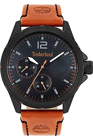 Timberland Herren Analog Quarz Uhr mit Echtes Leder Armband TBL15944JYB.02