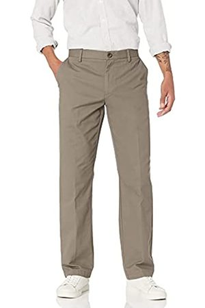 Amazon Essentials Herren Chinos - Classic-Fit Wrinkle-Resistant Flat-Front Chino Pant Unterhose, Grau (Taupe)