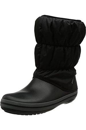 Crocs Damen Winterstiefel - Winter Puff Boot Women, Damen Schneestiefel, (Black/Charcoal)