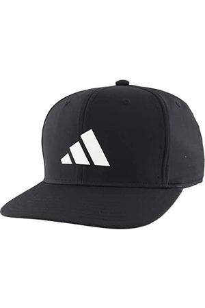 adidas Herren Caps - Men's Three Bar Structured Snapback Adjustable Fit Cap, Black/White